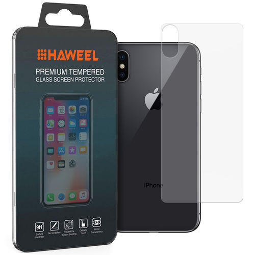 Back Side 9H Tempered Glass Rear Protector for Apple iPhone X / Xs
